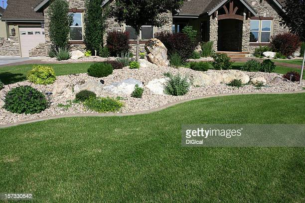 Garden with shrubs and rockery
