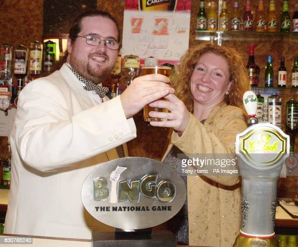 TV gardener Charlie Dimmock buys Alan Stockdale from Carlisle a drink after he was named as Britain's Bingo Caller of the Year competiton held at the...