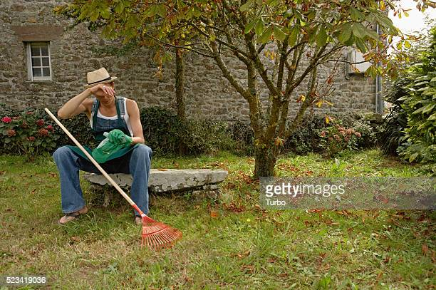 Gardener Taking a Break