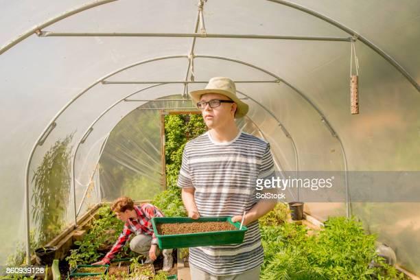 Im Garten auf dem Bauernhof