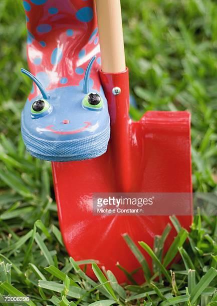 Gardening boot and shovel