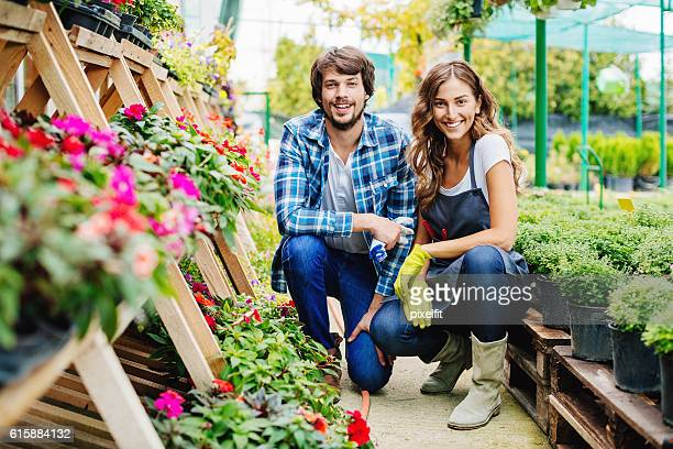 Gardening business owners