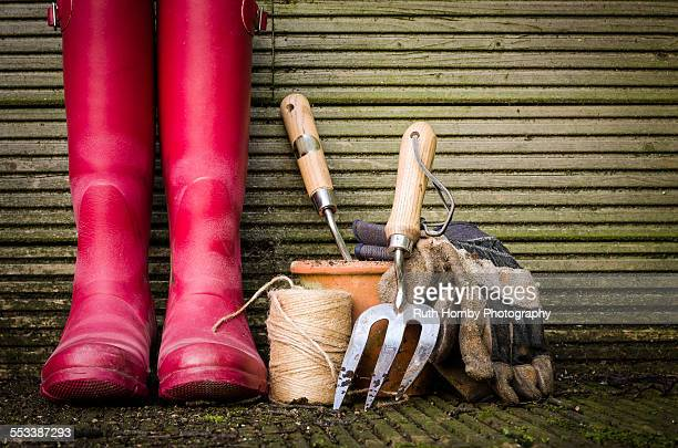 gardening equipment - gardening equipment stock pictures, royalty-free photos & images