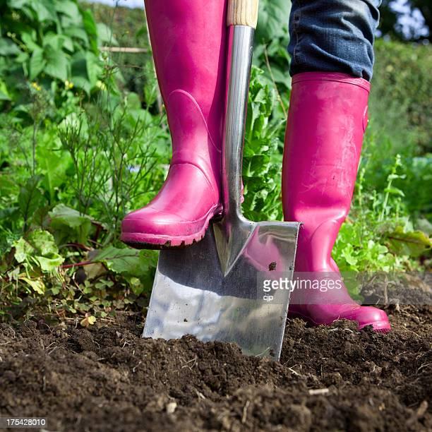 Gardening in Pink Wellies