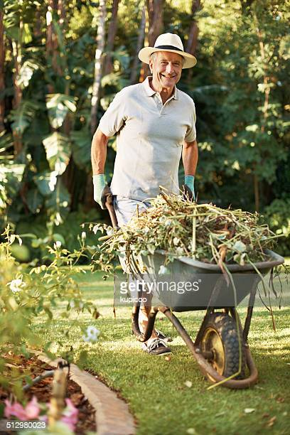 gardening is a labor of love - wheelbarrow stock photos and pictures