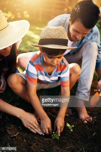 Le jardinage est une des façons de cultiver leur lien