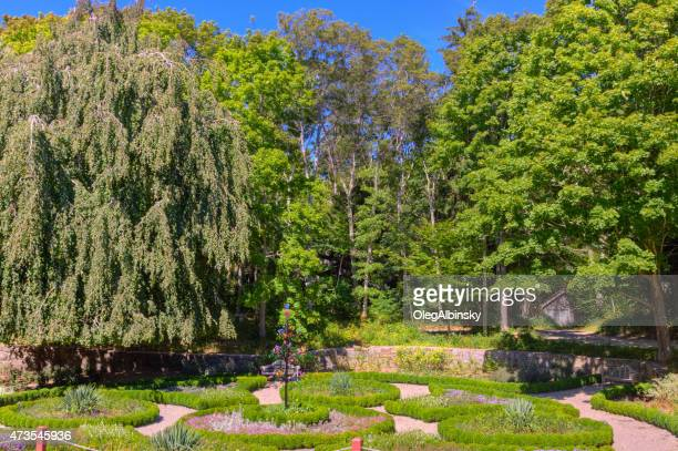 Gardens at Highfield Hall in Falmouth, Cape Cod, Massachusetts.
