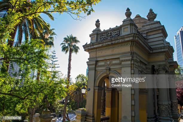 gardens at santa lucia, santiago, chile - paisajes de santa lucia fotografías e imágenes de stock