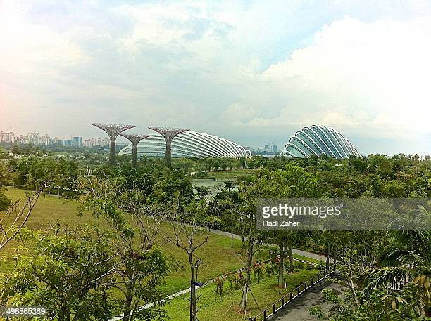 Gardens by the Bay is a park spanning 101 hectares of reclaimed land in central Singapore, adjacent to the Marina Reservoir.