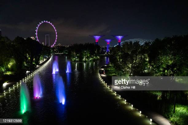 Gardens By The Bay on 3rd June 2018 in Singapore. The Gardens by the Bay is a nature park spanning 101 hectares in the Central Region of Singapore,...