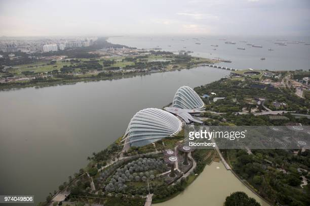 Gardens by the Bay stands in Singapore on Wednesday June 13 2018 Tourism as well as the consumer sector will likely see a lift thanks to the influx...