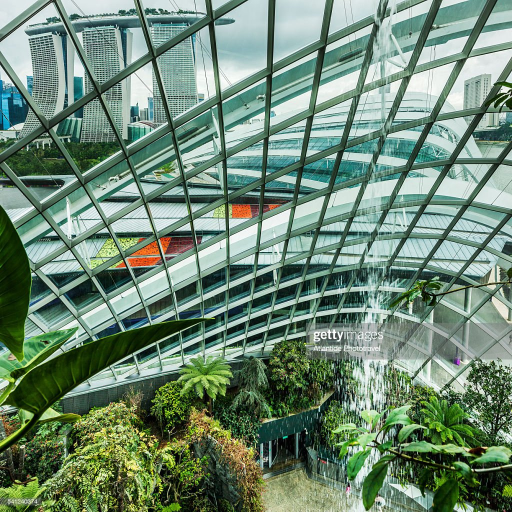 Gardens By The Bay The Marina Bay Sands Hotel High Res Stock Photo Getty Images
