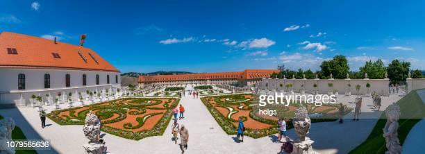 gardens of bratislava castle square, slovakia, europe - bratislava stock pictures, royalty-free photos & images