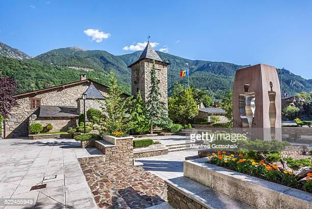 gardens of casa de la vall andorra - casa stock pictures, royalty-free photos & images