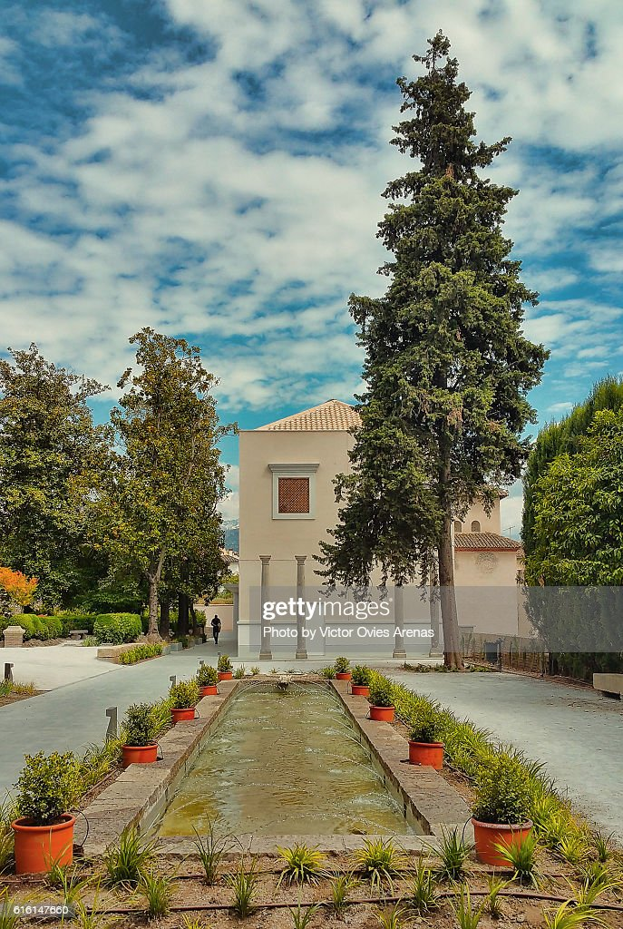 Gardens of Cuarto Real de Santo Domingo, Realejo, Granada, Spain : Stock Photo
