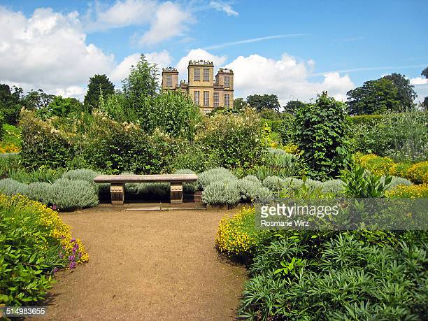 gardens of hardwick hall - grounds stock pictures, royalty-free photos & images