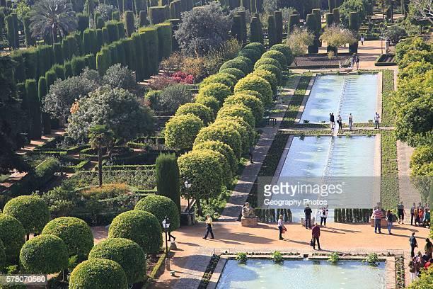 Gardens of the Alc‡zar de los Reyes Cristianos Alcazar Cordoba Spain