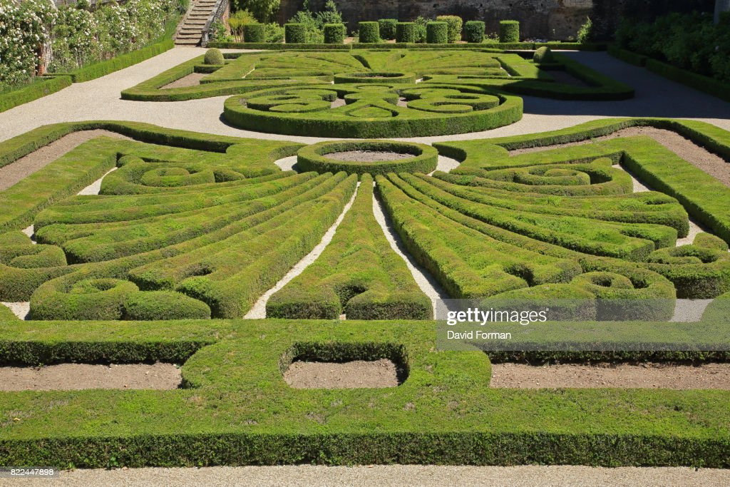 Gardens of the Palais de Berbie in Albi, France. : Stock Photo