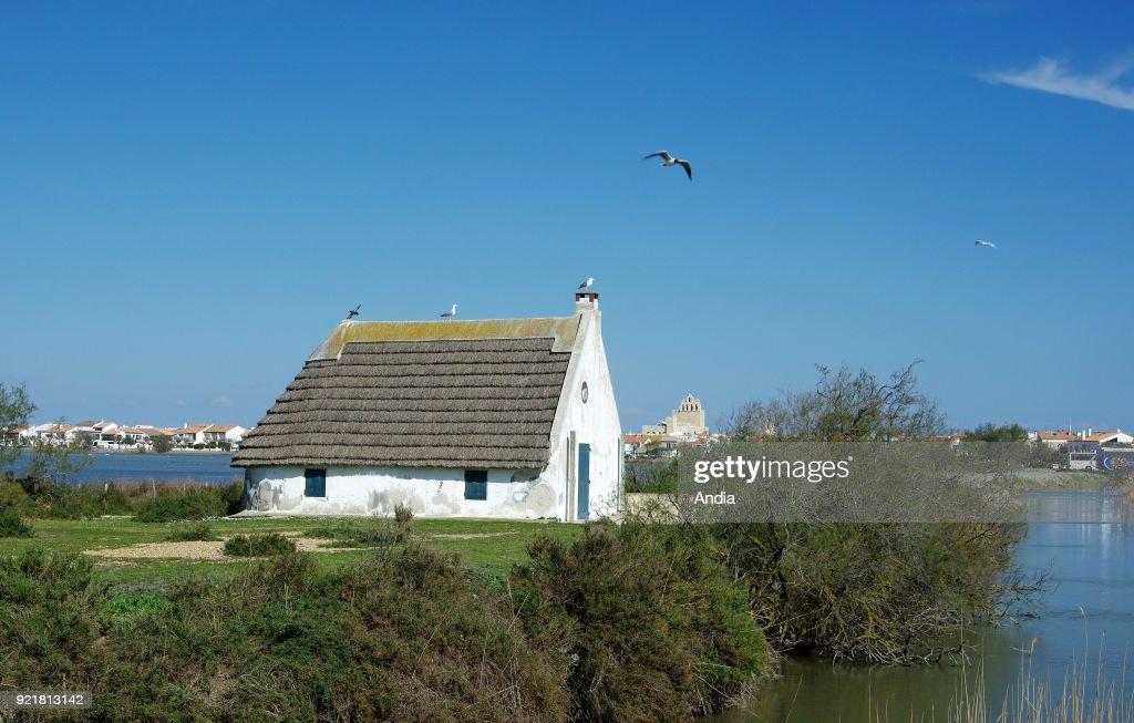 Gardian's hut in Les Saintes-Maries-de-la-Mer, in the Camargue Regional Nature Park.