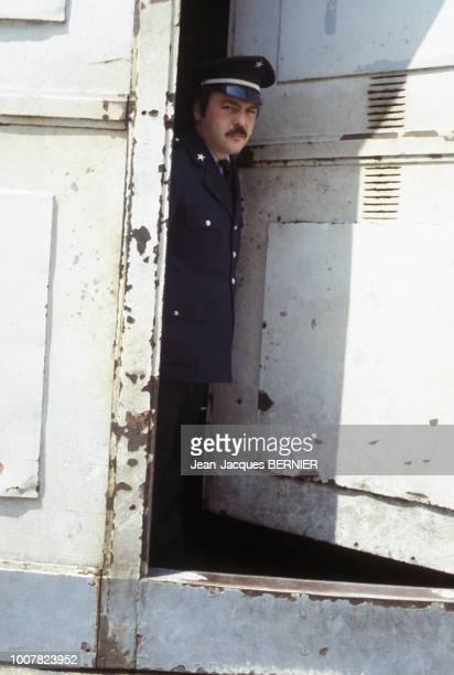 Gardien de prison en grève en 1983