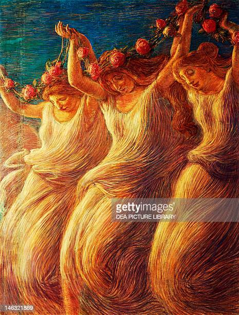 Gardone Riviera Museo Dannunziano Del Vittoriale The Dance of the Rose by Gaetano Previati