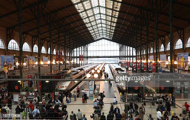 gare du nord - north station, paris - station stock pictures, royalty-free photos & images