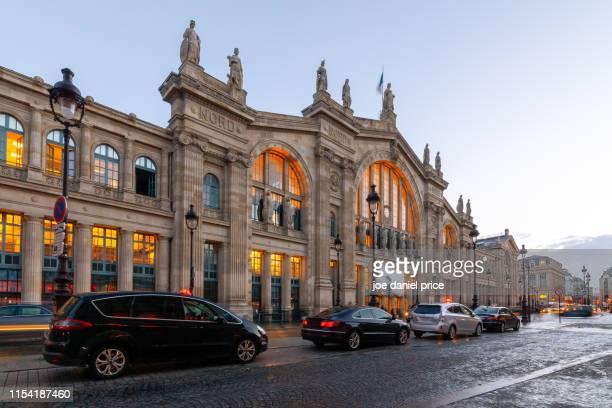 gare du nord, paris, france - gare du nord stock pictures, royalty-free photos & images