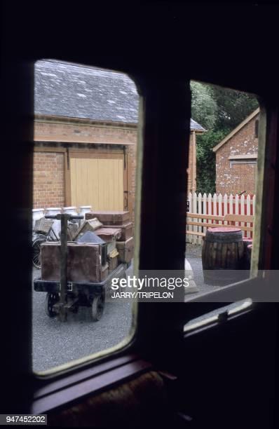 Gare du train a vapeur du South Devon Railway qui relie Totnes et Buckfastleigh Devon Angleterre GrandeBretagne Station of the steamtrain of South...