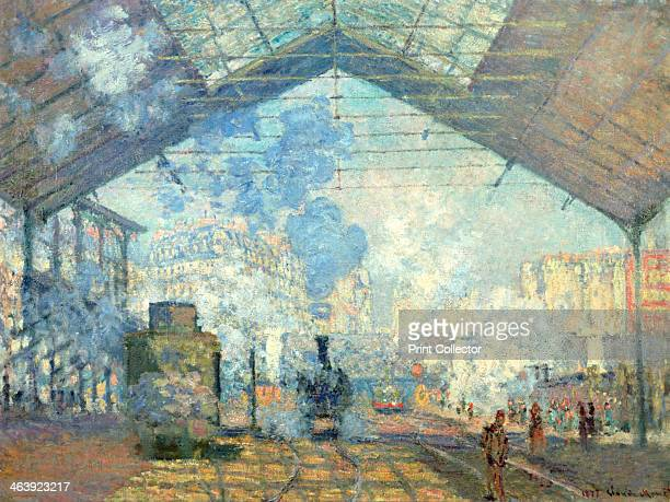 'Gare Saint Lazare Paris' 1877 Located in the collection at Musee d'Orsay Paris France