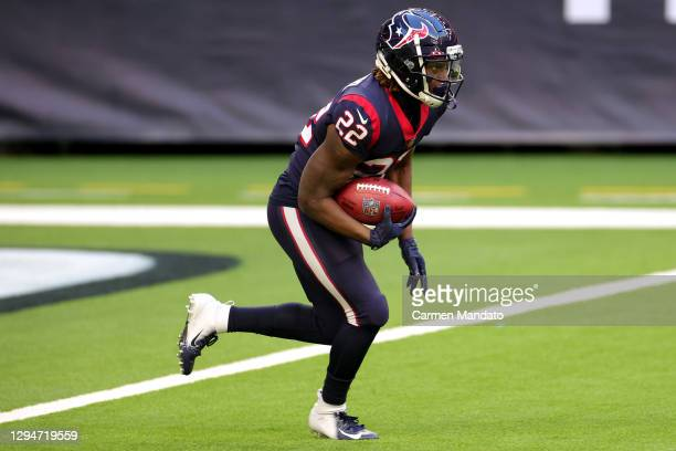 Gareon Conley of the Houston Texans in action against the Tennessee Titans during a game at NRG Stadium on January 03, 2021 in Houston, Texas.