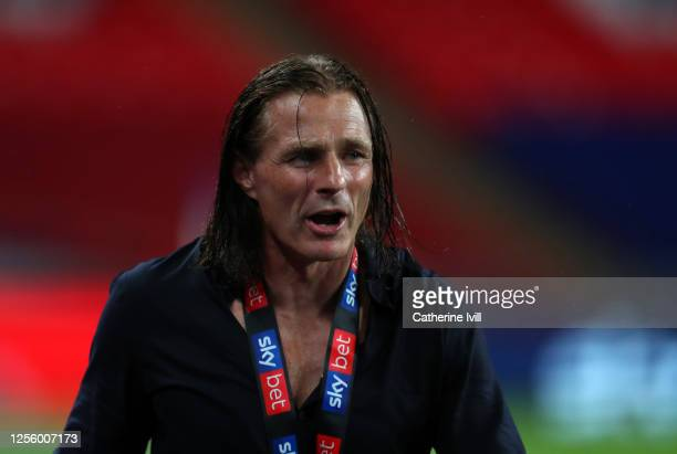 Gareth Ainsworth manager of Wycombe Wanderers after the Sky Bet League One Play Off Final between Oxford United and Wycombe Wanderers at Wembley...