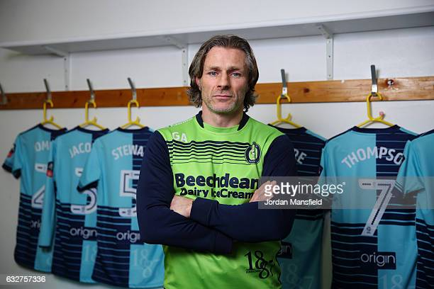 Gareth Ainsworth manager of Wycombe Wanderers poses for a portrait during Wycombe Wanderers Media Access at the Wycombe Wanderers FC Training Ground...