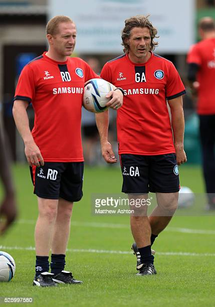 Gareth Ainsworth manager of Wycombe Wanderers with assistant manager Richard Dobson