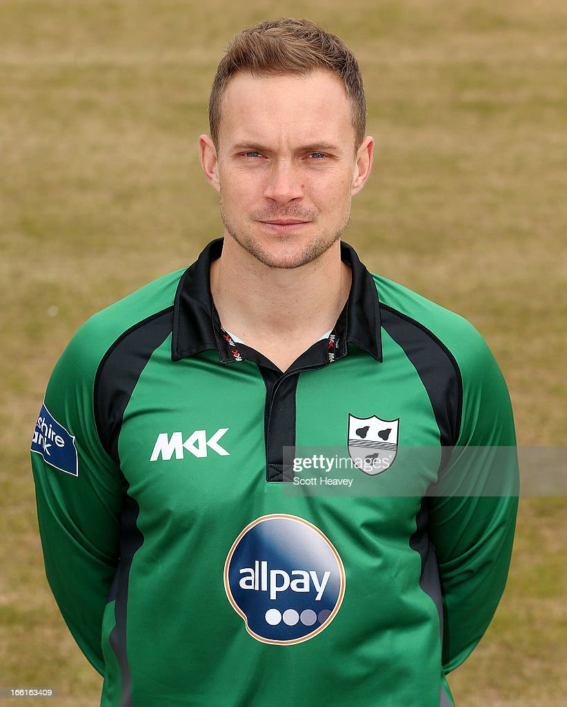 Gareth Andrew during a Photocall for Worcestershire County Cricket Club on April 9, 2013 in Worcester, England.