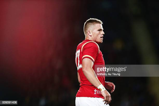 Gareth Anscombe looks on during the International Test match between the New Zealand All Blacks and Wales at Eden Park on June 11 2016 in Auckland...