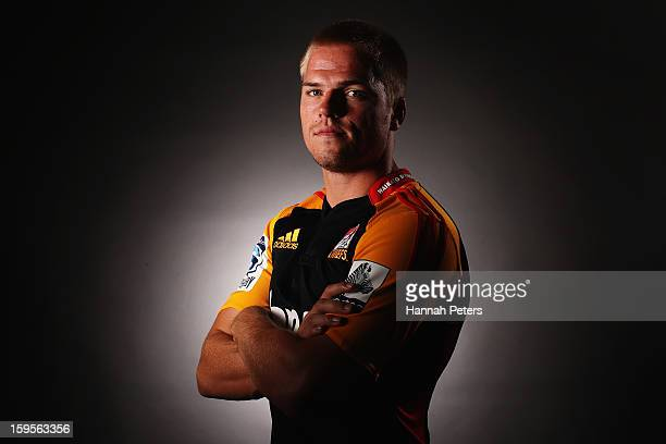 Gareth Anscombe poses for a photo during the Chiefs Super Rugby portrait session on January 16 2013 in Hamilton New Zealand