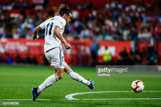 11 Gareth Bale from Gales of Real Madrid during the La Liga game between Girona FC against Real Madrid in Montilivi Stadium at Girona on 26 of August...