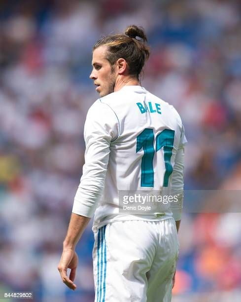 Gareth Bale of Real Madrid CF leaves the field after Real drew 11 in the La Liga match between Real Madrid and Levante at Estadio Santiago Bernabeu...