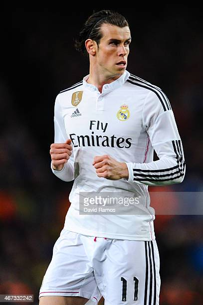 Gareth Bale of Real Madrid CF looks on during the La Liga match Between FC Barcelona and Real Madrid CF at Camp Nou on March 22 2015 in Barcelona...