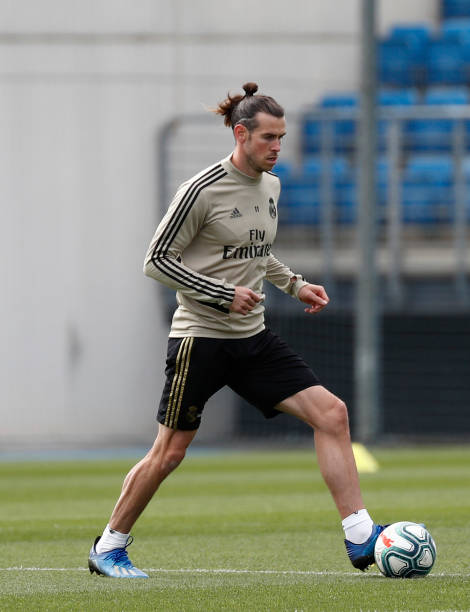 Gareth Bale of Real Madrid during a first training session since the Covid19 pandemic at Valdebebas training ground on May 11 2020 in Madrid Spain