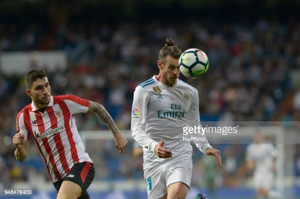 Gareth Bale of Real Madrid during a match between Real Madrid vs Athletic Bilbao for La Liga Española at Santiago Bernabeu Stadium on April 18 2018...