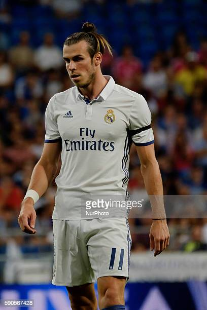 Gareth Bale of Real Madrid during the 37th Santiago Bernabeu Trophy game between Real Madrid and Stade de Reims at the Santiago Bernabeu Stadium in...