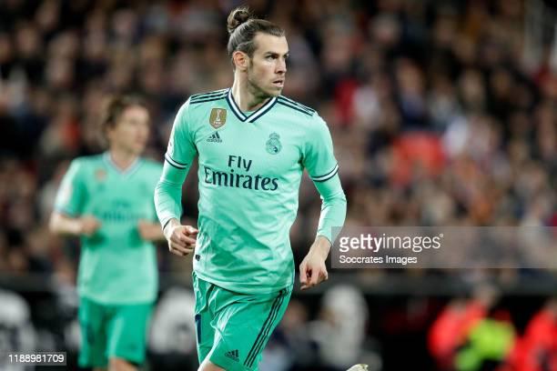 Gareth Bale of Real Madrid during the La Liga Santander match between Valencia v Real Madrid at the Estadio de Mestalla on December 15, 2019 in...