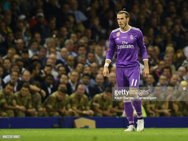 Gareth Bale of Real Madrid during the UEFA Champions League Final match between Juventus and Real Madrid at National Stadium of Wales on June 3 2017...