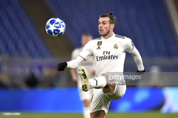 Gareth Bale of Real Madrid during the UEFA Champions League match between Roma and Real Madrid at Stadio Olimpico Rome Italy on 27 November 2018