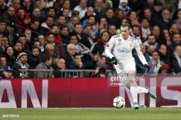 Gareth Bale of Real Madrid during the UEFA Champions League quarter final match between Real Madrid and Juventus FC at the Santiago Bernabeu stadium...