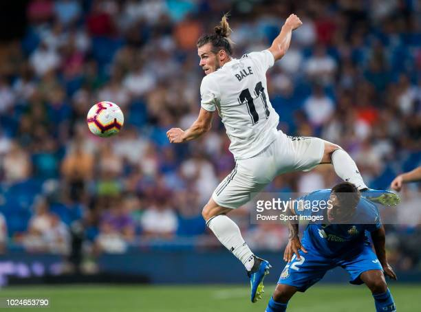 AUGUST 19 Gareth Bale of Real Madrid in action during the La Liga match between Real Madrid CF and Getafe CF at Estadio Santiago Bernabeu on August...