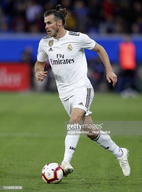 Gareth Bale of Real Madrid in action during the La Liga match between Deportivo Alaves and Real Madrid at Estadio de Mendizorroza on October 06 2018...