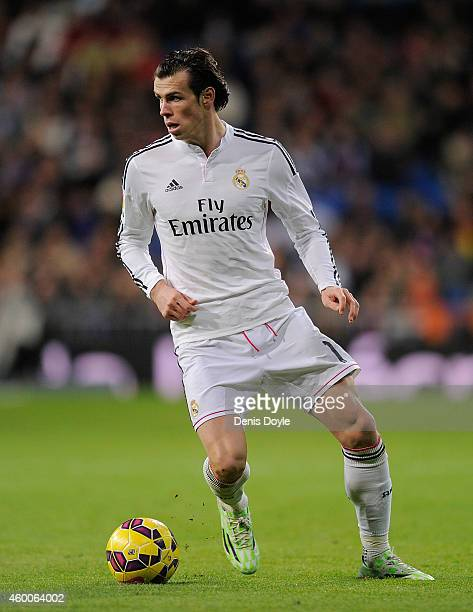 Gareth Bale of Real Madrid in action during the La Liga match between Real Madrid CF and Celta Vigo at Estadio Santiago Bernabeu on December 6 2014...