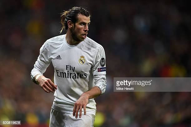 Gareth Bale of Real Madrid in action during the UEFA Champions League quarter final second leg match between Real Madrid CF and VfL Wolfsburg at...